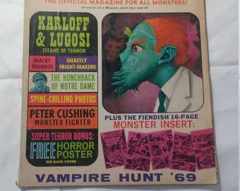Spring Sale Vintage Shock Monsters Only Magazine from Large Collection