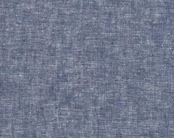Robert Kaufman Yarn Dyed Essex - Denim - Cotton Fabric