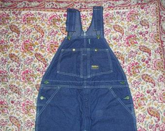 Bib Overalls Osh Kosh Hippie Painter Overalls USA Made Vintage Denim Jeans Cotton Boho Summer Osh Kosh Bibs Overall Unisex Adult L 36 x 31