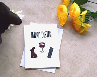 Easter Card Happy Easter Sarcastic Card Funny Card