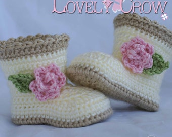 Booties Crochet Pattern booties  for SUGAR and SPICE BOOTS digital