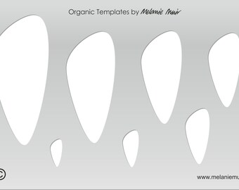 No 5 Clear Acrylic Template/Stencil for Polymer/Metal Clay/Jewellery/Crafting