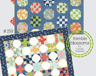 Thimble Blossoms Double Take Quilt Pattern  Jelly Roll and Charm pack friendly Quilt Pattern  TBL159