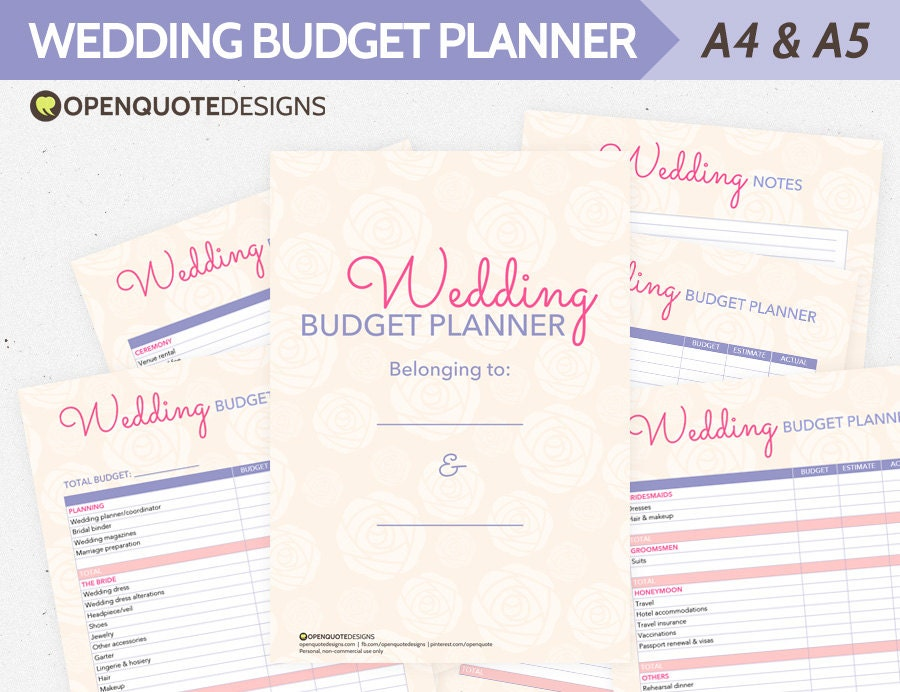 Wedding Planning Wedding Planner Organizer Wedding Budget