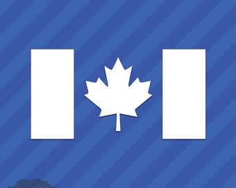 Canadian Flag Vinyl Decal Sticker Canada Maple Leaf