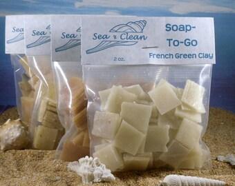 Soap To Go  / Gym Soap, Travel Soap, Single Use Soap, Camping Soap, TSA Compliant, Essential Oil Soap, Unscented Soap