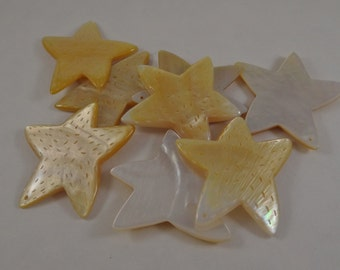 Focal shell pendant star starfish gold lip shell natural color 45 x 44 mm  starfish star large shell focal bead or pendant in natural gold