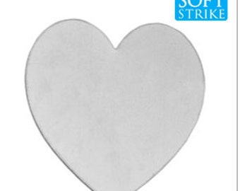 Aluminum Stamping Blank- Heart 1.5  inch Stamping Blanks-Soft Strike Aluminum -20 Gauge-Pick Your Qty.