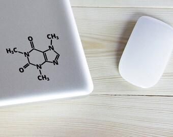 Caffeine Molecule Decal Sticker