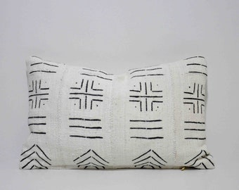 Decorative African Bogolan Mud Cloth Pillows Cover, SKU: MCP-006RC