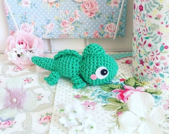 Pascal the chameleon from Tangled crochet amigurumi doll plush