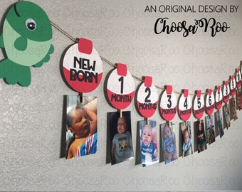 Fishing Party FIRST YEAR - Bobber Picture Banner *Made to Order*