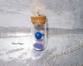 Custom made Navi Fairy in Glass Bottle Pendant Necklace Legend of Zelda Ocarina of Time OOAK One of a Kind by TorresDesigns