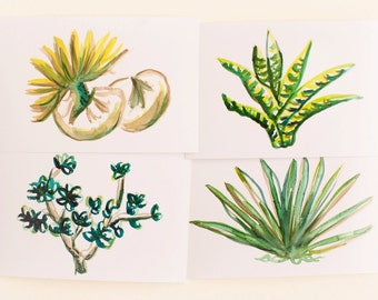 Succulents Print Set, Set of 4, Horizontal