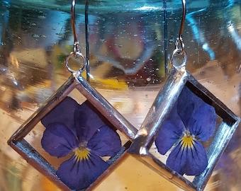 Pansy Flower Earring