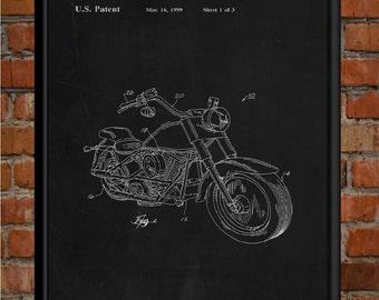 Harley Davidson Gifts, 1999 Harley Davidson Patent Print, Harley Patent Drawing Print, Harley Poster, Harley Motorcycle, Harley Wall Art