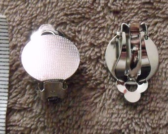 pair of medium silver clip earrings