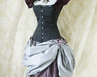 Privateer Pirate Corset Costume -Whole Outfit-For A 30-32 Inch Natural Waist-Made To Order