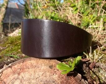 English Bridle Leather Dog Collar for Lurcher/Greyhound/Deerhound/Saluki/Borzoi/Sighthound