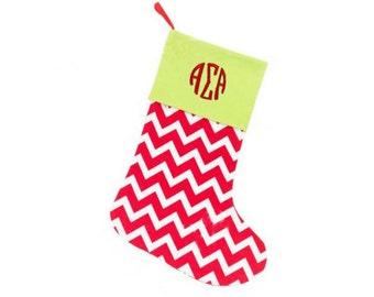 Alpha Sigma Alpha Christmas Stockings