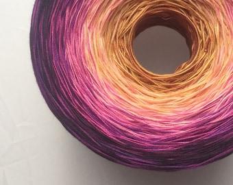 Colour Change Gradient Yarn - indulgence - Moca Cotton Yarn - 12 colors - fingering yarn - cotton