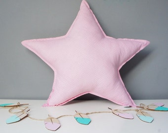 Pillow Cushion Softie Kids Girl Boy - Big star,colours and pattern to choose