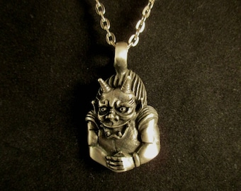 Pewter Gargoyle Necklace