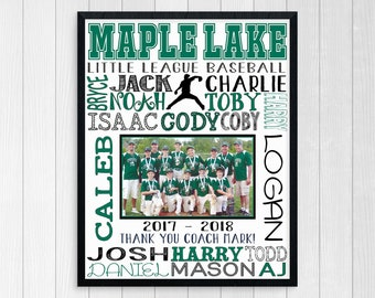 BASEBALL TEAM PHOTO Gift ~ Baseball Coach Gift ~ Baseball Coach Gift from Team ~ All Stars Team Gift ~ Baseball Printable ~ Baseball Gift