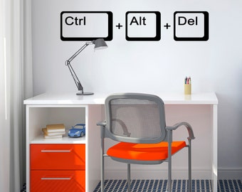 Ctrl Alt Del Wall Sticker - Geek Wall Sticker