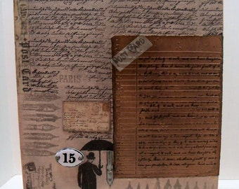 Writing Letters Canvas Collage