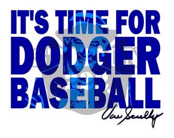 Baseball Vin Scully SVG cut file
