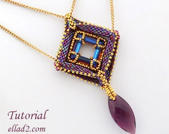 Tutorial Out of the Box Pendant - Beading pattern, PDF