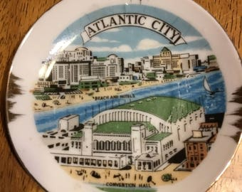 Vintage Ashtray from Atlantic City showing the Convention Hall . . .