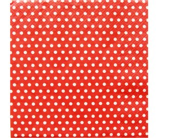 Set of 3 HOD088 dots background paper napkins Red