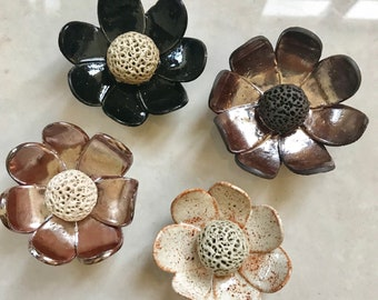 Small - Flower clay essential oil diffuser -