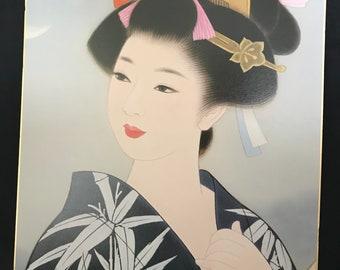Vintage Geisha Girl print