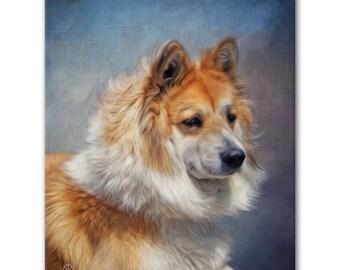 "16"" X 20"" Custom Pet Portrait Canvas Wrap (True-to-Life Digital Painting Style)"