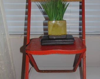 Vintage Childs metal chair