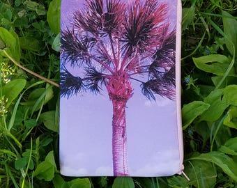 Purple Palm Tree Pouch
