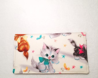 Checkbook Cover - Checkbook cover Duplicate checks - Fabric Checkbook - Checkbook cover for women - Checkbook cover Cats - LMiller Creations