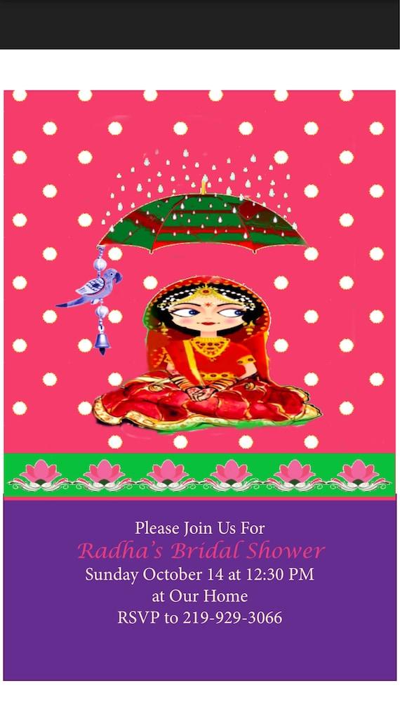 Bridal shower or haldi ceremony invitation