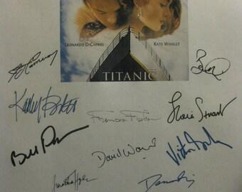 Titanic Signed Film Movie Script Screenplay X20 Autographs Leonardo DiCaprio Kate Winslet Katy Bates James Cameron Billy Zane Ioan Gruffudd