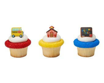 SCHOOL ICON  Cupcake Rings