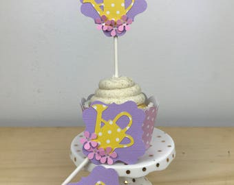 Watering Can Cupcake Topper