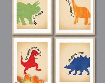 Awesome Boys Wall Art/Dinosaur Wall Art/ Boys Nursery Decor/ Dinosaur Print Set/