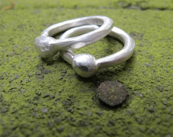 Pure Silver Organic Chunky Rings