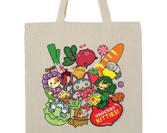 Grocery Kitties! Tote Bag
