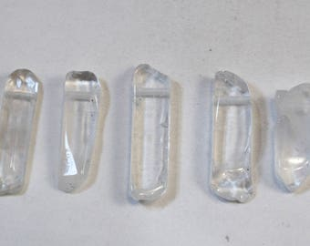 Genuine Natural Clear Quartz Beads, Large Crystal Points, Drops, Wholesale Beads