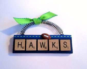 Hawks Seattle Seahawks Scrabble Tile Ornament