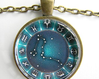 DRAGO Constellation Necklace -- Drago the Dragon stars, Zodiac signs, Stars for him or her, Astrology art